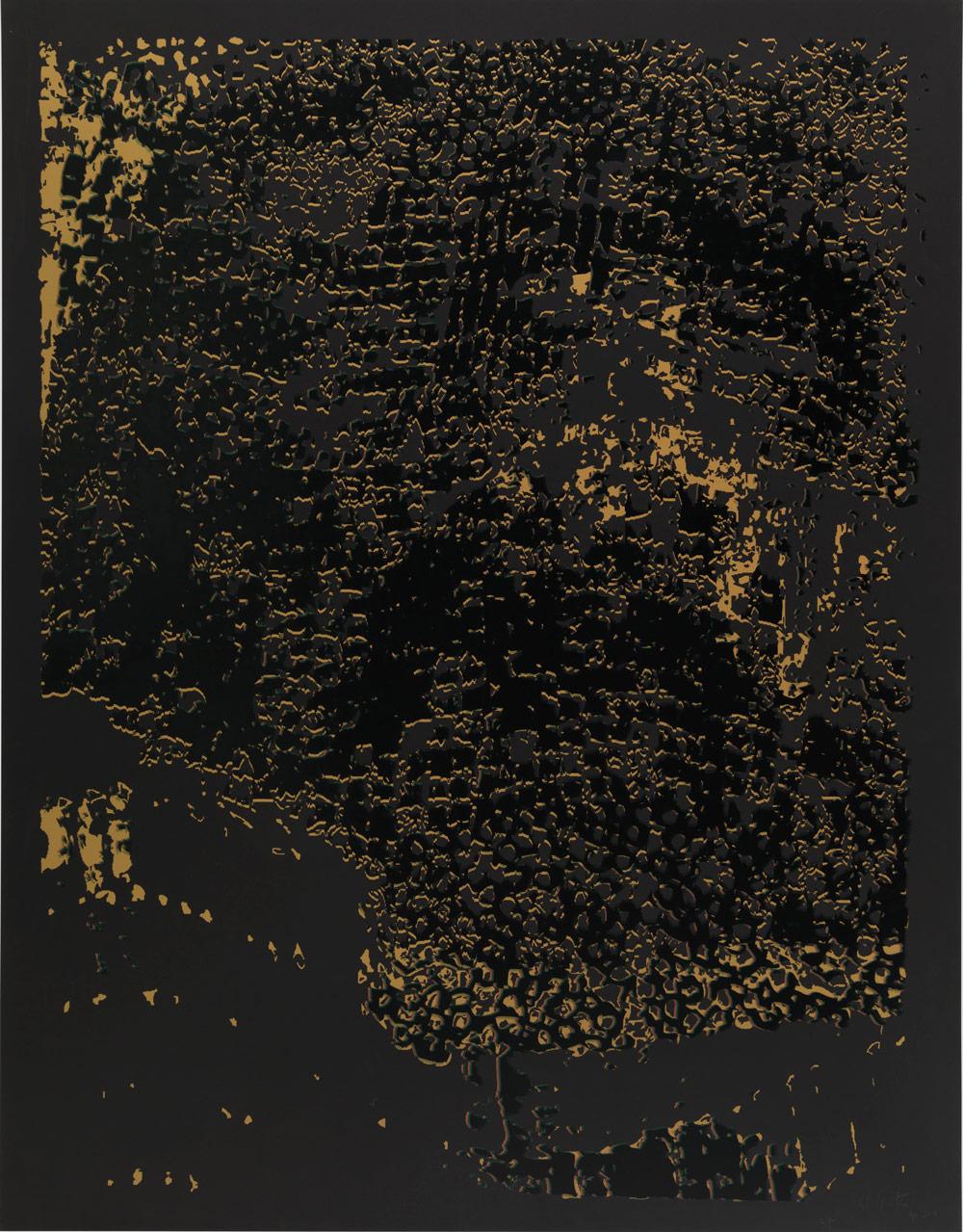 "El Anatsui: ""Untitled [Black Edge with Black]"""