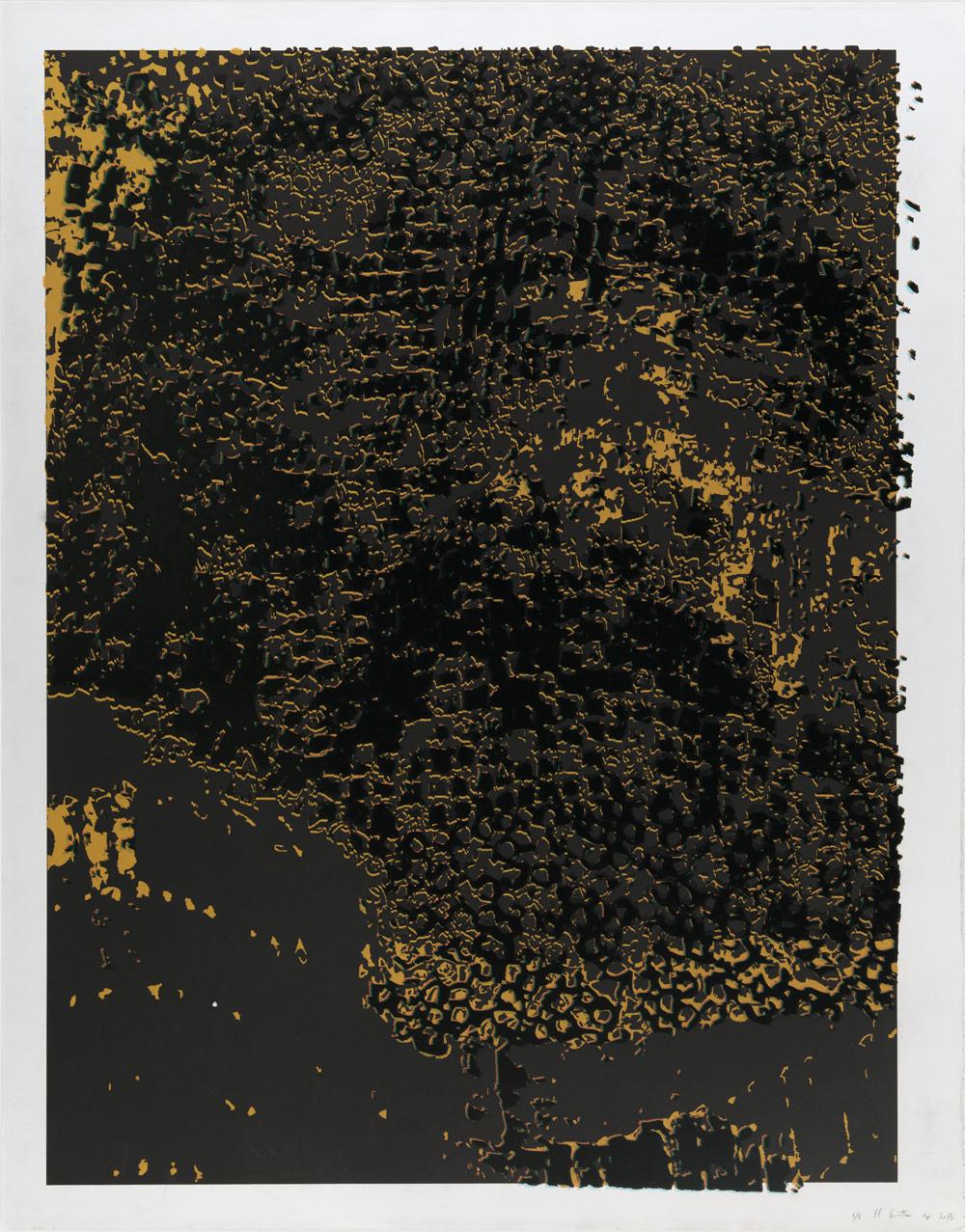 "El Anatsui: ""Untitled [Black Frame]"""