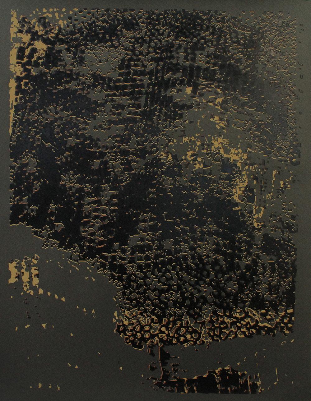 """El Anatsui: """"Untitled [Copper Edge with Black]"""""""