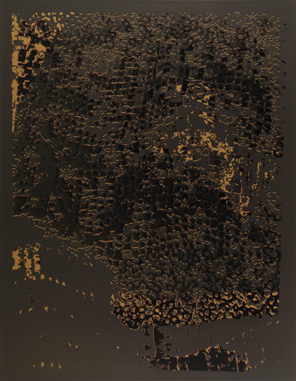 "El Anatsui: ""Untitled [Copper Edge with Pearl]"""