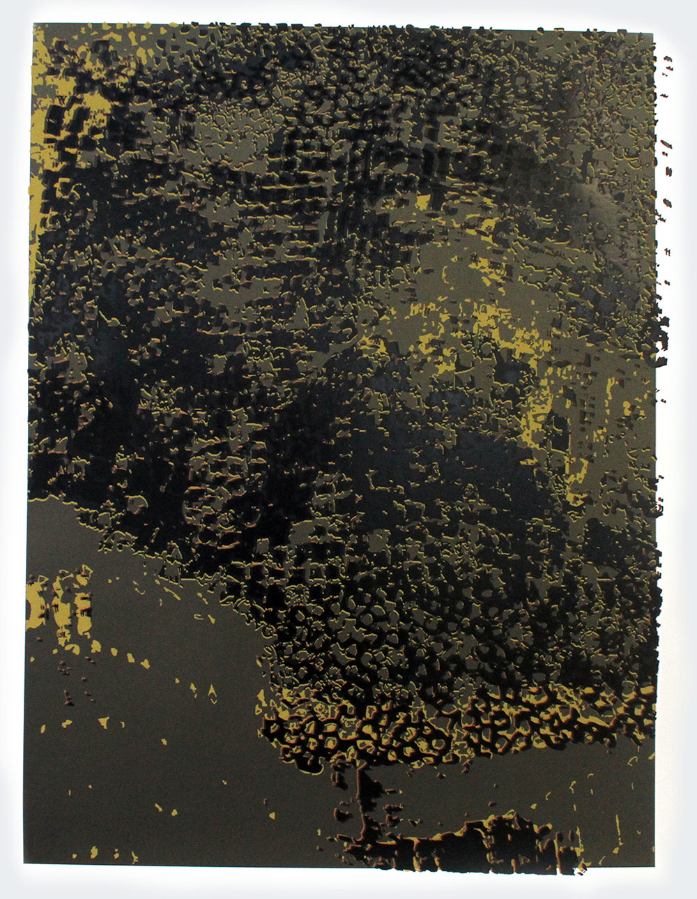 "El Anatsui: ""Untitled [Copper Frame]"""
