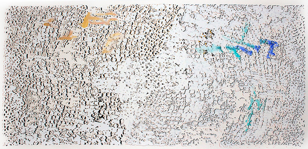 """El Anatsui: """"Untitled [Gold with Blue]"""""""