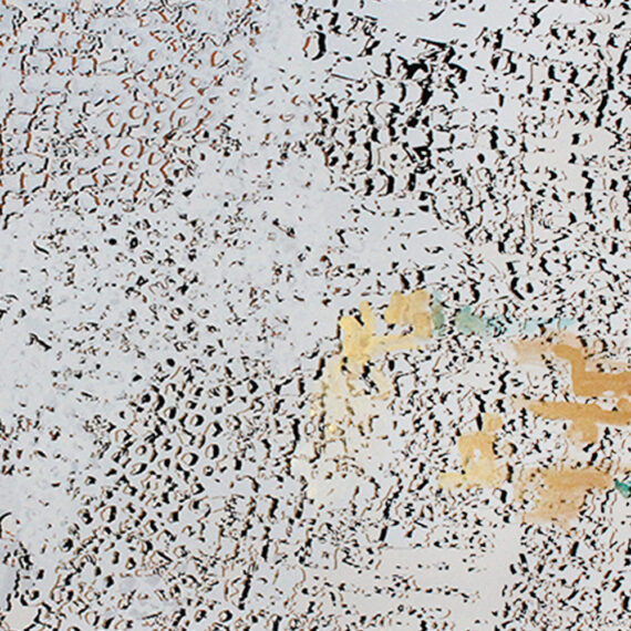 """El Anatsui: """"Untitled [Gold with Gold line]"""""""
