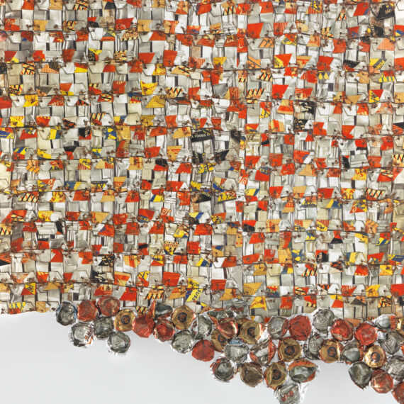 """El Anatsui: """"Paper and Gold"""""""
