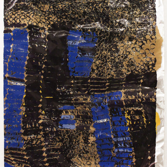 """El Anatsui: """"Untitled (with Yellow)"""""""