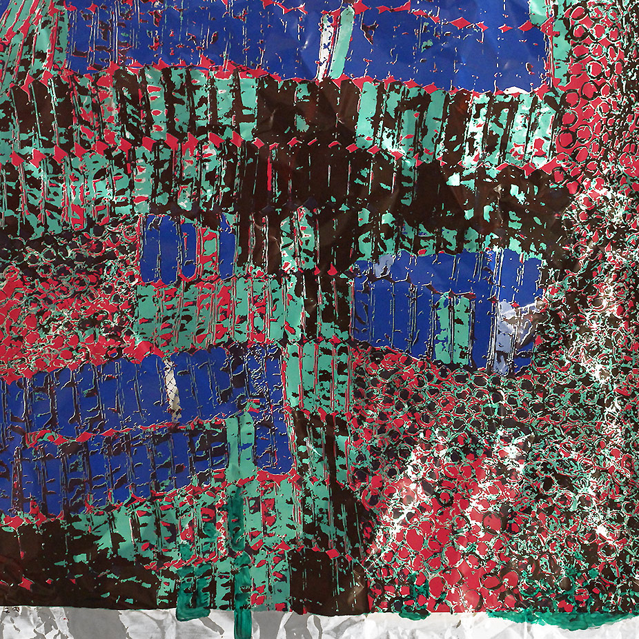 """El Anatsui: """"Untitled (with Green)"""""""