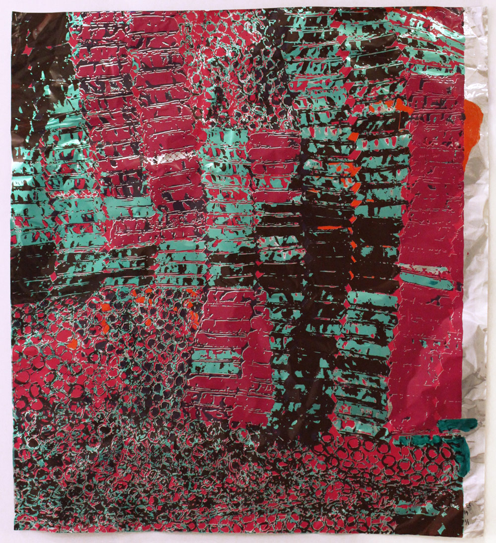 """El Anatsui: """"Untitled (with Red)"""""""