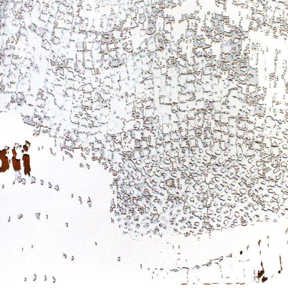 "El Anatsui: ""Untitled [White with Copper]"""
