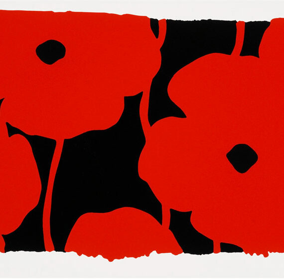 """Donald Sultan: """"Eight Poppies"""""""